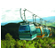 Aerial passenger and material ropeway
